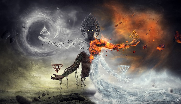 The 4 Elements: Earth, Water, Fire, Air