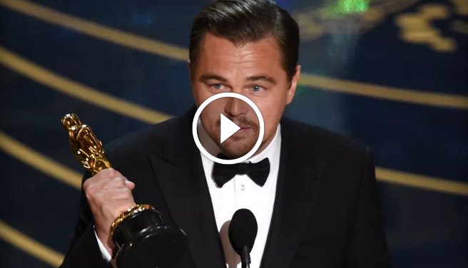 Leonardo DiCaprio Oscar Winning Speech