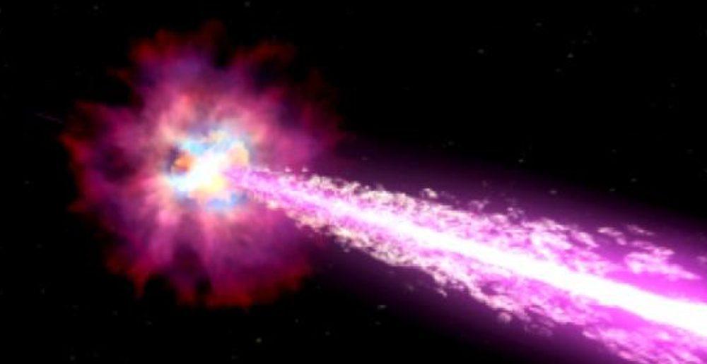 massive burst of 7th dimensional transformational gamma
